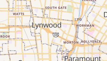 Lynwood, California map