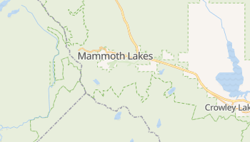Mammoth Lakes, California map