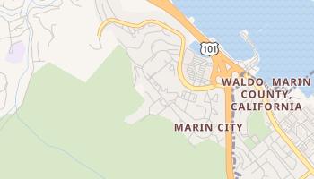 Marin City, California map