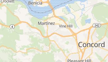 Martinez, California map