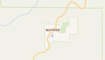 Mather, California map