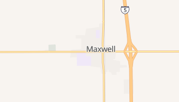 Maxwell, California map