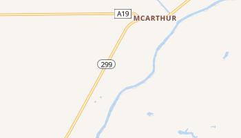 McArthur, California map