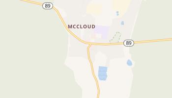 McCloud, California map