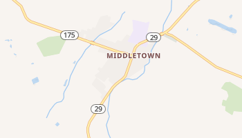 Middletown, California map