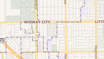 Midway City, California map