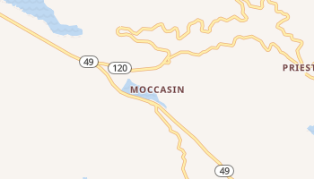 Moccasin, California map