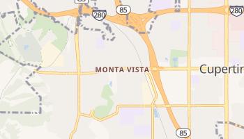 Monta Vista, California map