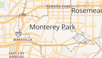 Monterey Park, California map