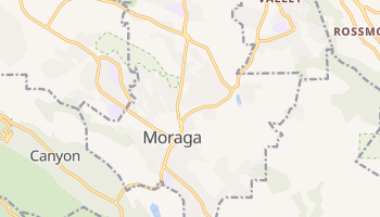 Moraga, California map