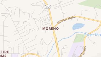 Moreno, California map