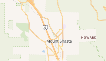 Mount Shasta, California map