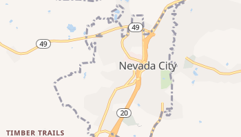 Nevada City, California map