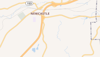 Newcastle, California map