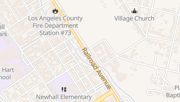 Newhall, California map