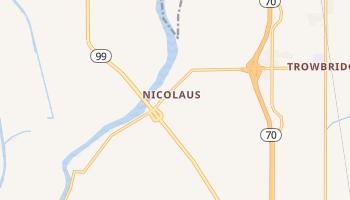 Nicolaus, California map