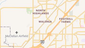 North Highlands, California map