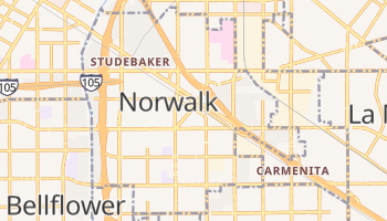 Norwalk, California map