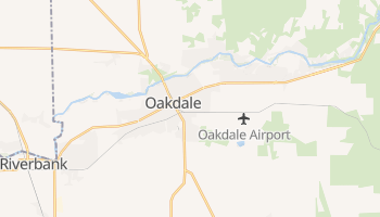 Oakdale, California map