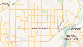 Orangevale, California map