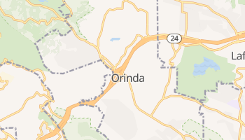 Orinda, California map