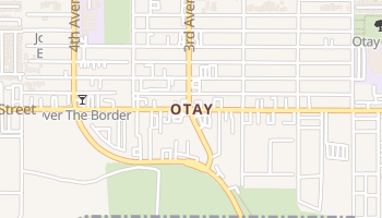 Otay, California map