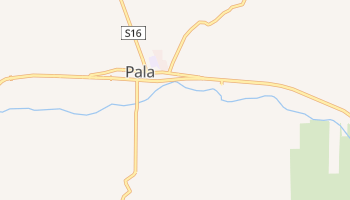Pala, California map