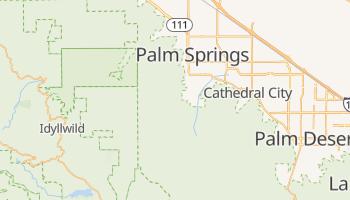 Palm Springs, California map