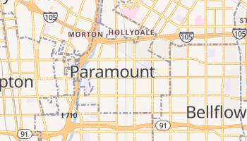 Paramount, California map