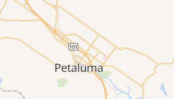 Petaluma, California map