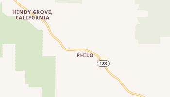 Philo, California map