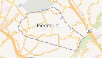 Piedmont, California map
