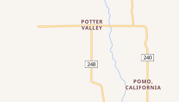 Potter Valley, California map