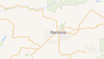Ramona, California map