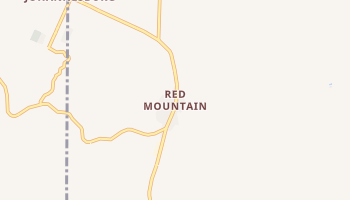 Red Mountain, California map