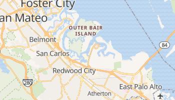 Redwood City, California map
