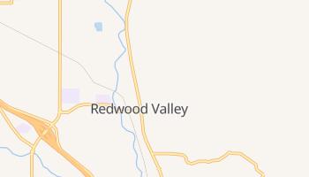 Redwood Valley, California map