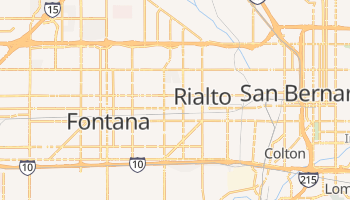 Rialto, California map