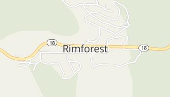 Rimforest, California map