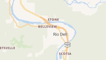 Rio Dell, California map