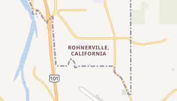Rohnerville, California map