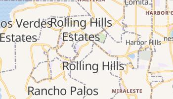 Rolling Hills Estates, California map
