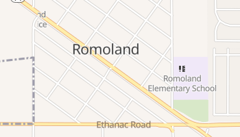 Romoland, California map
