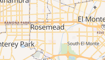 Rosemead, California map