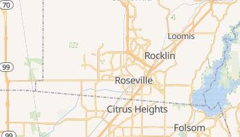 Roseville, California map