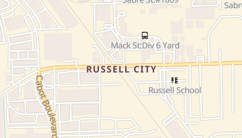 Russell City, California map