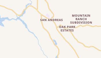 San Andreas, California map