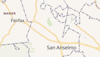 San Anselmo, California map
