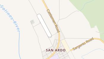 San Ardo, California map