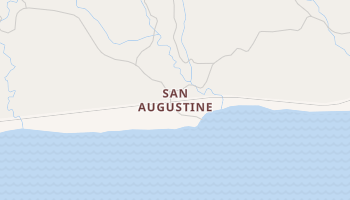 San Augustine, California map